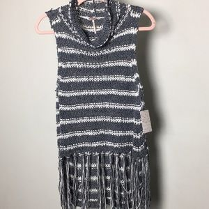 Free People NWT knit cowl neck tank